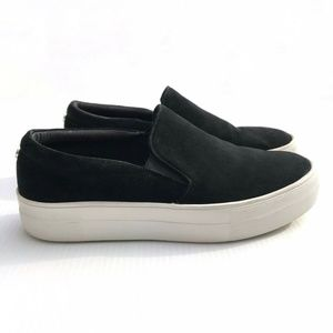 Steve Madden Gills Slip On Black Suede Sneakers